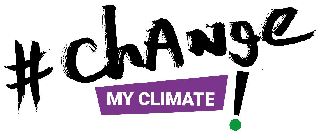 Schriftzug - #ChangeMyClimate