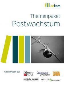 Politische Ökologie Themenpaket-1 (2020): Postwachstum